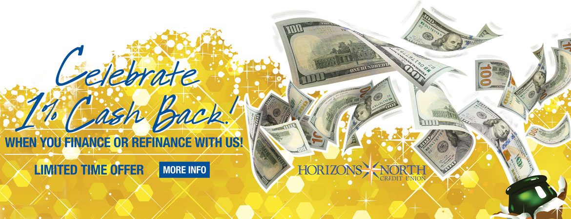 1% Cash Back - Vehicle Loans