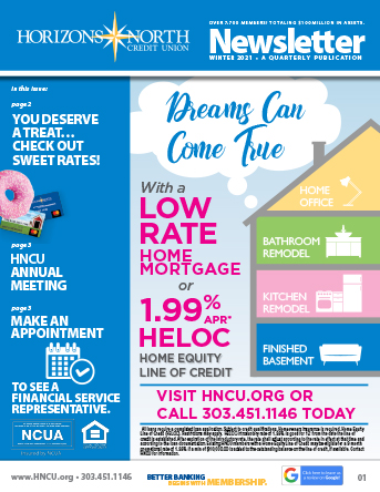 Horizon North CU Newsletter Cover